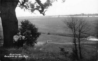 Ansichtkaart Heelsum Gezicht op den Rijn Newo fotokaart 1937 HC381