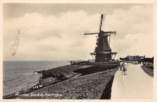 Ansichtkaart Harlingen Noorder Zeedyk met molen 1934 HC409