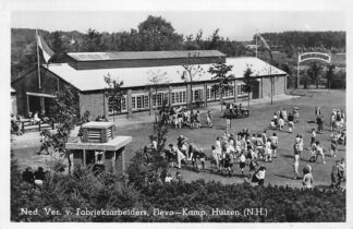 Ansichtkaart Huizen N.H. Ned. Ver. v. Fabrieksarbeiders, Flevo-Kamp 1949 HC420