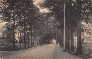 Ansichtkaart Almelo Wierdensche straat Auto 1926 HC421