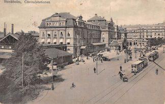 Ansichtkaart Stockholm Centralstationen Tram Station Zweden Sverige Sweden Overig Europa 1926 HC428