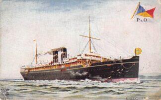 Ansichtkaart Scheepvaart S.S. Egypt P. & O. Schepen Engeland Great-Britain HC430