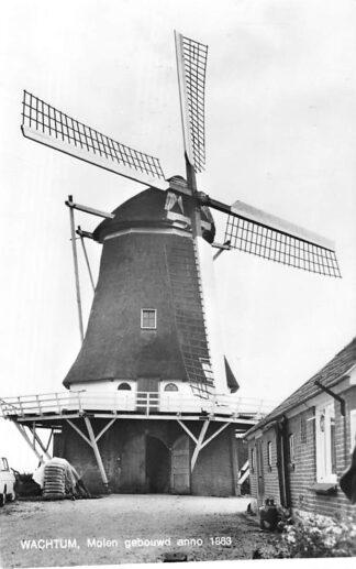 Ansichtkaart Wachtum Molen gebouwd anno 1863 Coevorden HC444