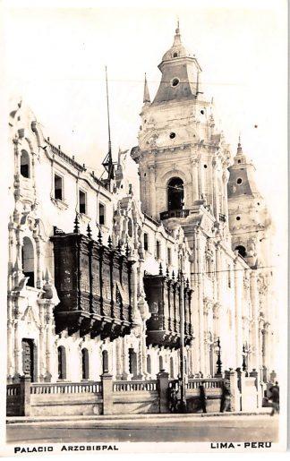 Ansichtkaart Lima Peru Palacio Arzobispal Fotokaart Zuid-Amerika HC446