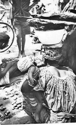 Ansichtkaart Congo Belge Leopoldville Scene du Marche Indigene Afrika Africa Wereld HC463
