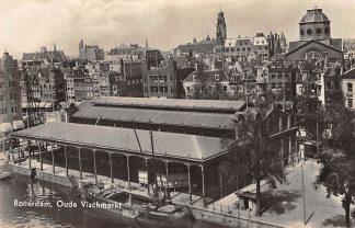 Ansichtkaart Rotterdam Op de Vischmarkt 1940 HC480