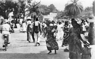 Ansichtkaart Congo Belge Leopoldville Scene du Marche Indigene Afrika Africa HC492