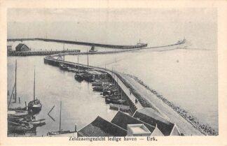 Ansichtkaart Urk Zeldzaam gezicht ledige haven 1925 HC524