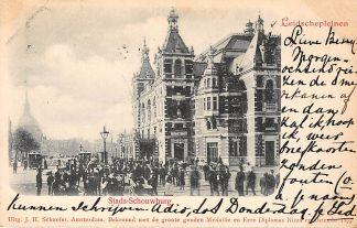 Ansichtkaart Amsterdam Leidschepleinen Stads-Schouwburg 1899 Tram HC540