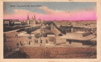 Ansichtkaart Malta King Edwatd VII.s Avenue Floriana HC550