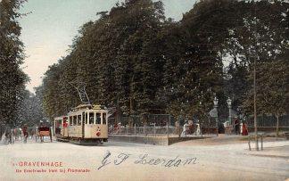 Ansichtkaart 's-Gravenhage De Electrische tram bij Promenade HTM 32 1906 Den Haag HC562