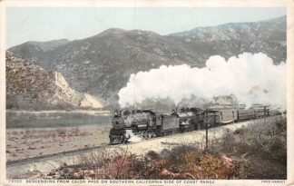 Ansichtkaart California Santa Fe train San Gabriel Valley San Bernardino Wereld Spoorwegen Trein Noord-Amerika HC568