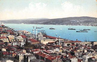 Ansichtkaart Turkije Turkey Constantinopel Istanbul Top-Hane et le Bosphore Scheepvaart Overig Europa HC573