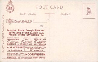 Ansichtkaart London Rotterdam Reclame Royal Mail Steam Packet Co. R.M.S.P. Scheepvaart Montevideo HC576