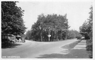 Ansichtkaart Ede Driesprong met restaurant en auto 1946 HC58