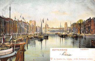 Ansichtkaart Rotterdam Leuvehaven Binnenvaart schepen scheepvaart HC583