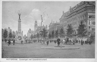 Ansichtkaart Rotterdam Coolsingel met Caland Monument 1928 HC587
