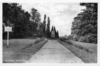 Ansichtkaart Coevorden Nieuwe Park met monument Drenthe HC59