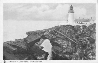 Ansichtkaart Engeland Lerwick Scotland Bressay Lighthouse Vuurtoren HC590