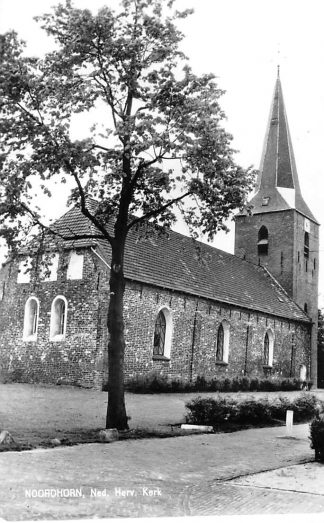 Ansichtkaart Noordhorn Ned. Hervormde Kerk 1981 HC611