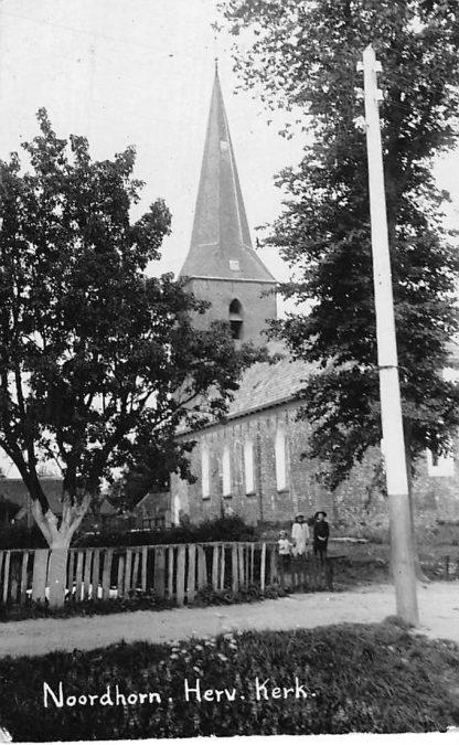 Ansichtkaart Noordhorn Fotokaart Hervormde Kerk HC612