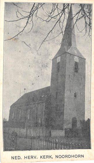Ansichtkaart Ned. Hervormde Kerk Noordhorn HC615