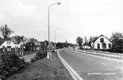 Ansichtkaart Noordhorn Langestraat Gereformeerde Kerk 1965 HC617