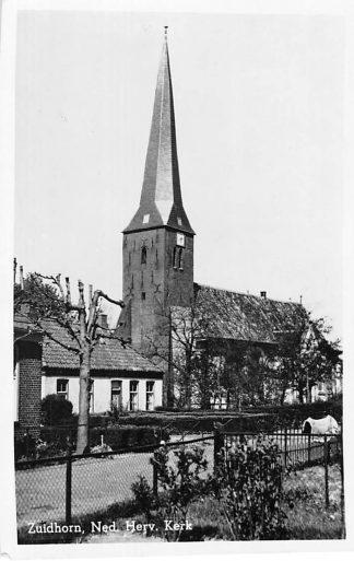 Ansichtkaart Zuidhorn Ned. Hervormde Kerk 1950 HC625