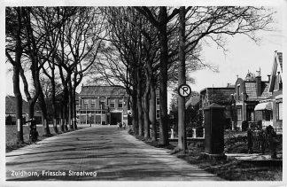 Ansichtkaart Zuidhorn Friesche Straatweg 1933 HC632