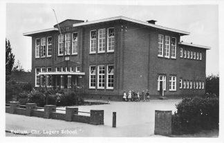 Ansichtkaart Kollum Chr. Lagere School 1949 HC641