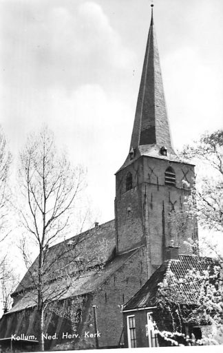 Ansichtkaart Kollum Ned. Hervormde Kerk 1966 HC668