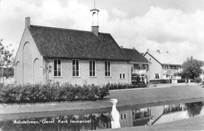 Ansichtkaart Amstelveen Gereformeerde Kerk Immanuel 1958 HC690