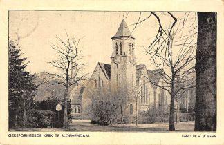 Ansichtkaart Bloemendaal Gereformeerde Kerk 1953 Haarlem HC691