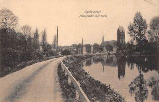 Ansichtkaart Oudewater IJsselgezicht met toren 1917 HC707