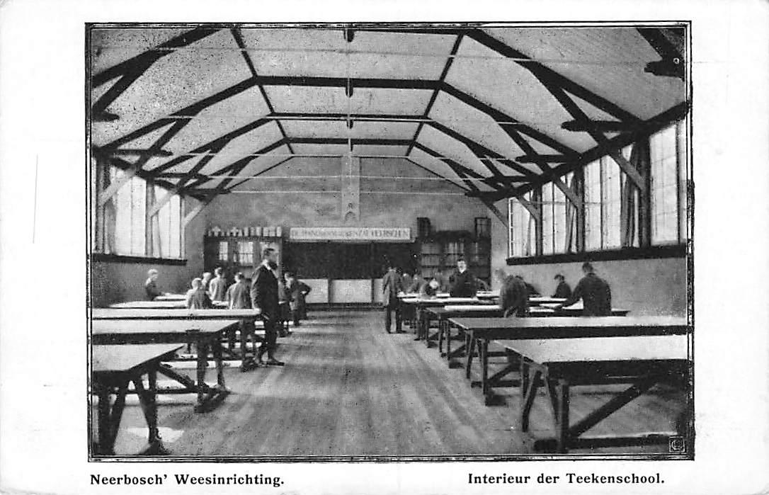 ansichtkaart nijmegen neerbosch weesinrichting interieur der teeken school hc710