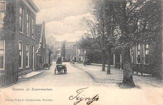 Ansichtkaart Zwammerdam Groeten uit Zwammerdam Dorpstraat 1904 Bodegraven HC714