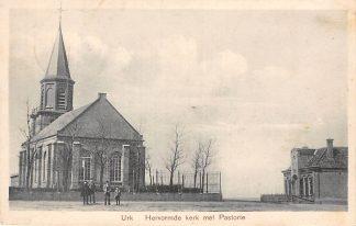 Ansichtkaart Urk Hervormde Kerk met Pastorie 1925 HC720
