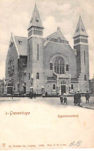 Ansichtkaart 's-Gravenhage Regentessekerk 1904 Den Haag HC736
