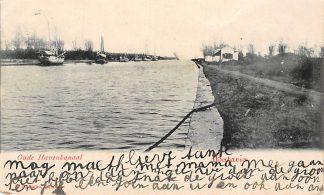 Ansichtkaart Nederlands-Indie Batavia Oude Havenkanaal Schepen Wereld Indonesia HC738