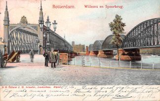 Ansichtkaart Rotterdam Willems en Spoorbrug 1902 Spoorwegen HC747
