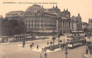 Ansichtkaart Belgie Antwerpen Esperanto Antverpeno Tram Aleo de Francujo Europa HC751