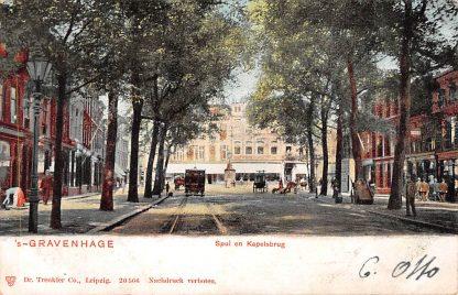 Ansichtkaart 's-Gravenhage Spui en Kapelsbrug Tram 1903 Den Haag HC765