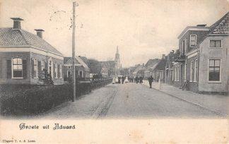 Ansichtkaart Aduard Groeten uit 1907 Zuidhorn HC775