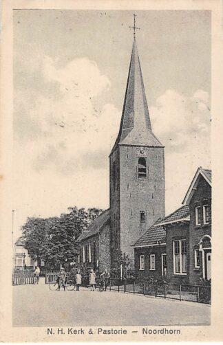 Ansichtkaart Noordhorn N.H. Hervormde Kerk & Pastorie HC783