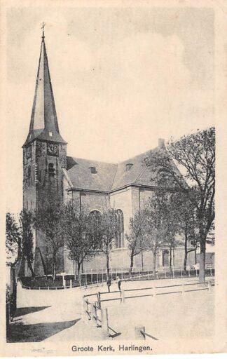 Ansichtkaart Harlingen Goote Kerk 1931 HC784