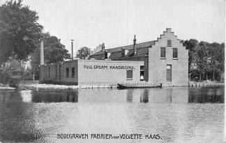 Ansichtkaart Bodegraven Fabriek van Volvette Kaas Full Cream Kaasbond Zuivelfabriek HC827