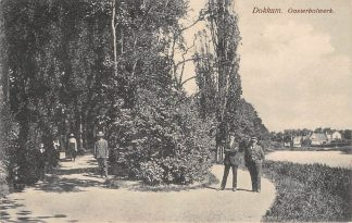 Ansichtkaart Dokkum Oosterbolwerk 1925 HC835