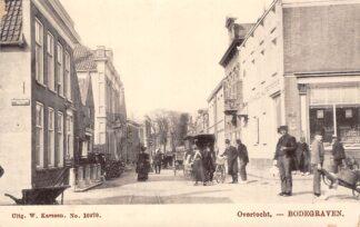 Ansichtkaart Bodegraven Overtocht met volk koets No. 10370 Uitg. W. Karssen HC874