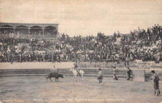 Ansichtkaart Mexico Bull Fight at Matamoro's 1909 Stieren gevecht Noord-Amerika HC884