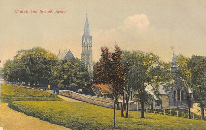 Ansichtkaart Avoch Church and School Scotland Engeland HC896